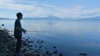 【福島/バス釣り】猪苗代湖でおかっぱり♪釣れそうな仕掛けも購入!KINAMIBAITSのワームに期待♪