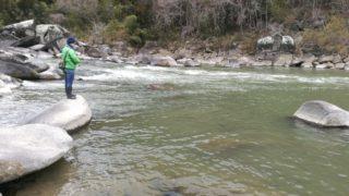 【阿武隈川】アフター時期の雄バスGET!&小野川温泉で出会ったあの子